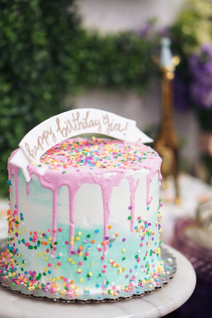 Best ideas about Confetti Birthday Cake . Save or Pin Confetti birthday cake from a Spring Inspired 1st Birthday Now.