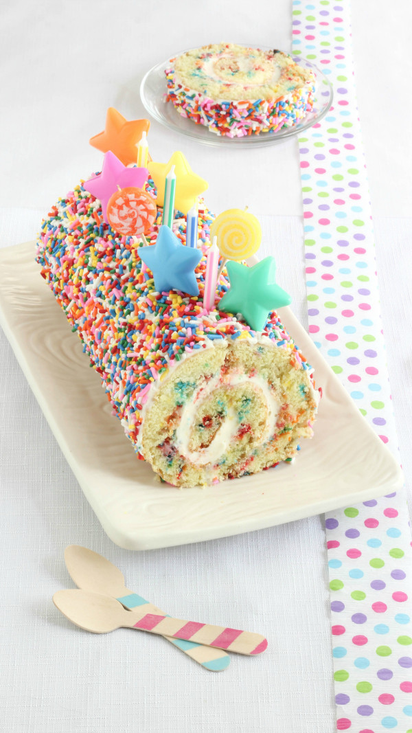Best ideas about Confetti Birthday Cake . Save or Pin Confetti Cake Roll Recipe Now.