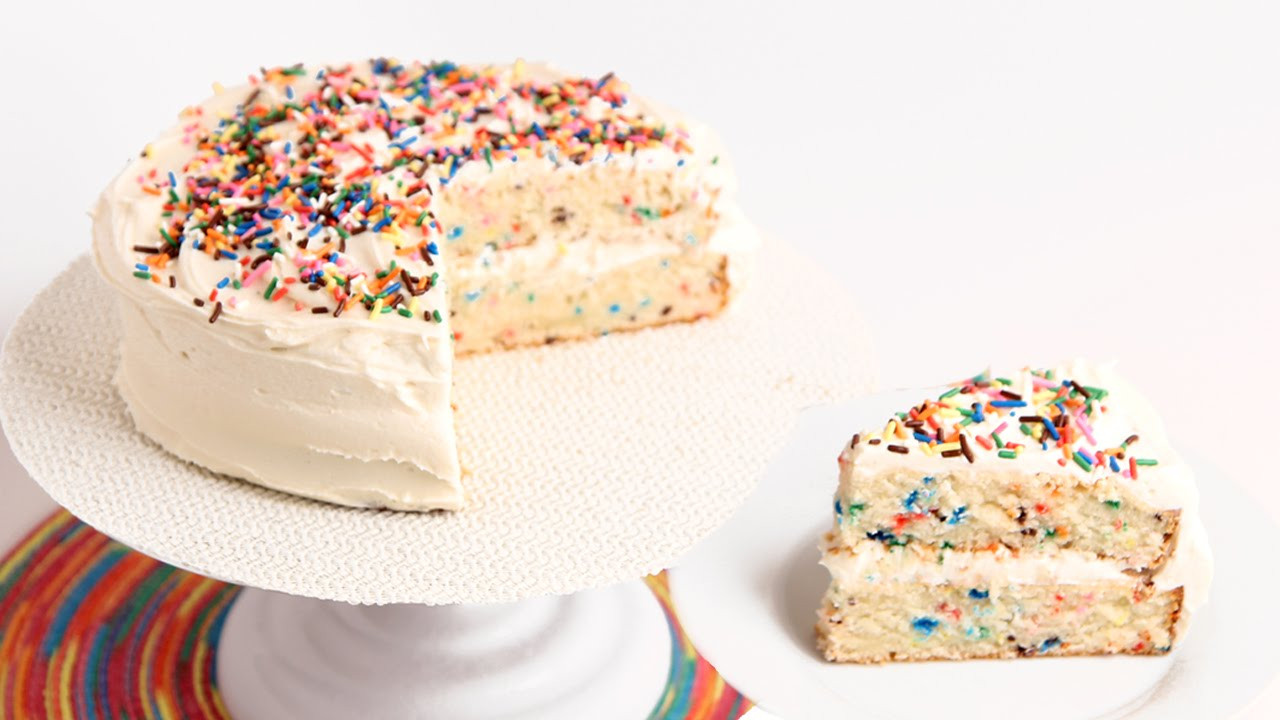 Best ideas about Confetti Birthday Cake . Save or Pin Confetti Birthday Cake Recipe Laura Vitale Laura in Now.