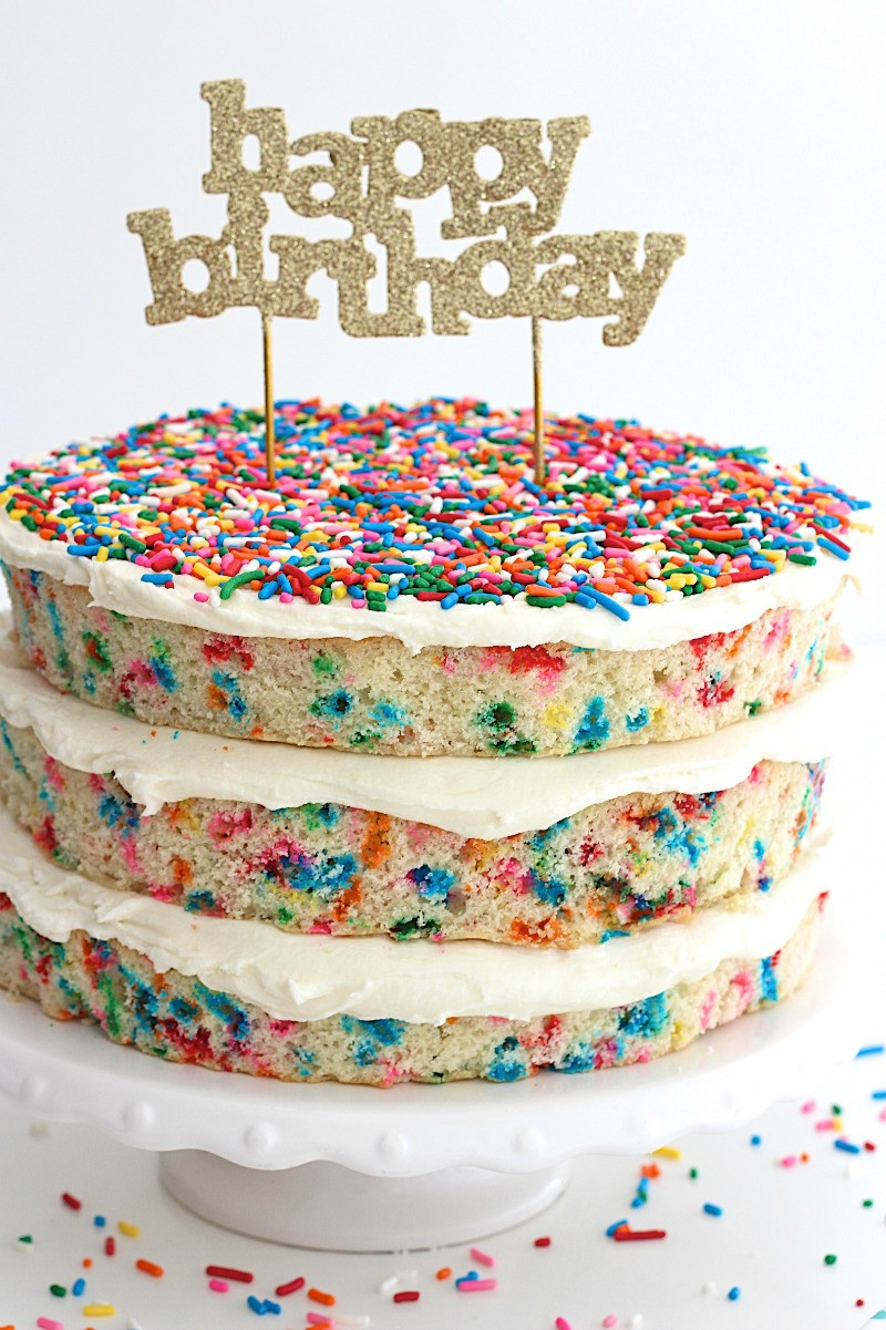 Best ideas about Confetti Birthday Cake . Save or Pin Naked Confetti Cake Now.
