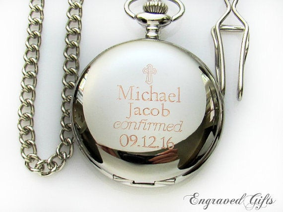 Best ideas about Confirmation Gift Ideas Boys . Save or Pin Engraveable Pocket Watch Confirmation Gift for by Now.