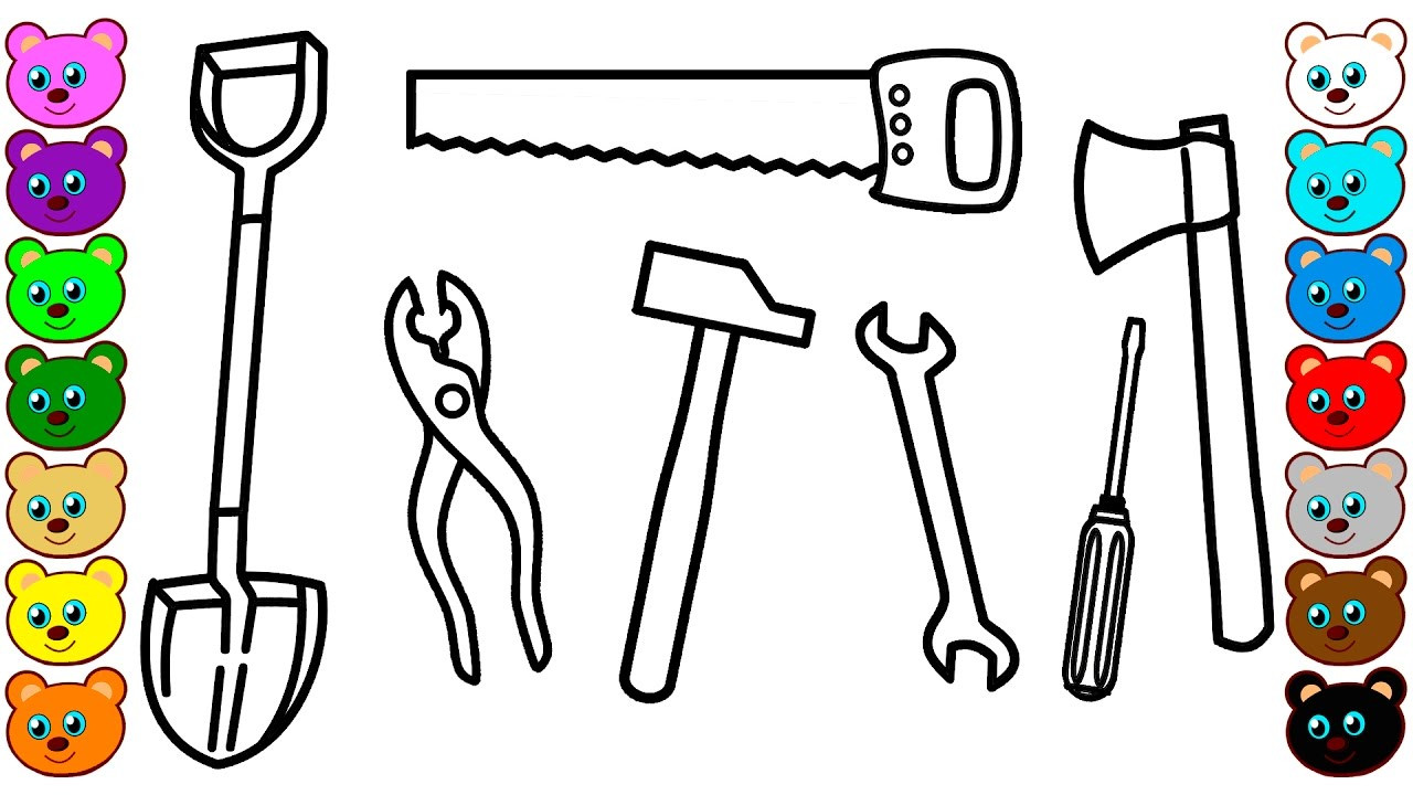 Best ideas about Construction And Tool Box Preschool Coloring Sheets . Save or Pin Building Tools Coloring Pages for Kids Now.