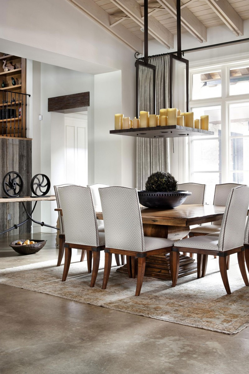 Best ideas about Contemporary Dining Room . Save or Pin Rustic Texas Home With Modern Design and Luxury Accents Now.