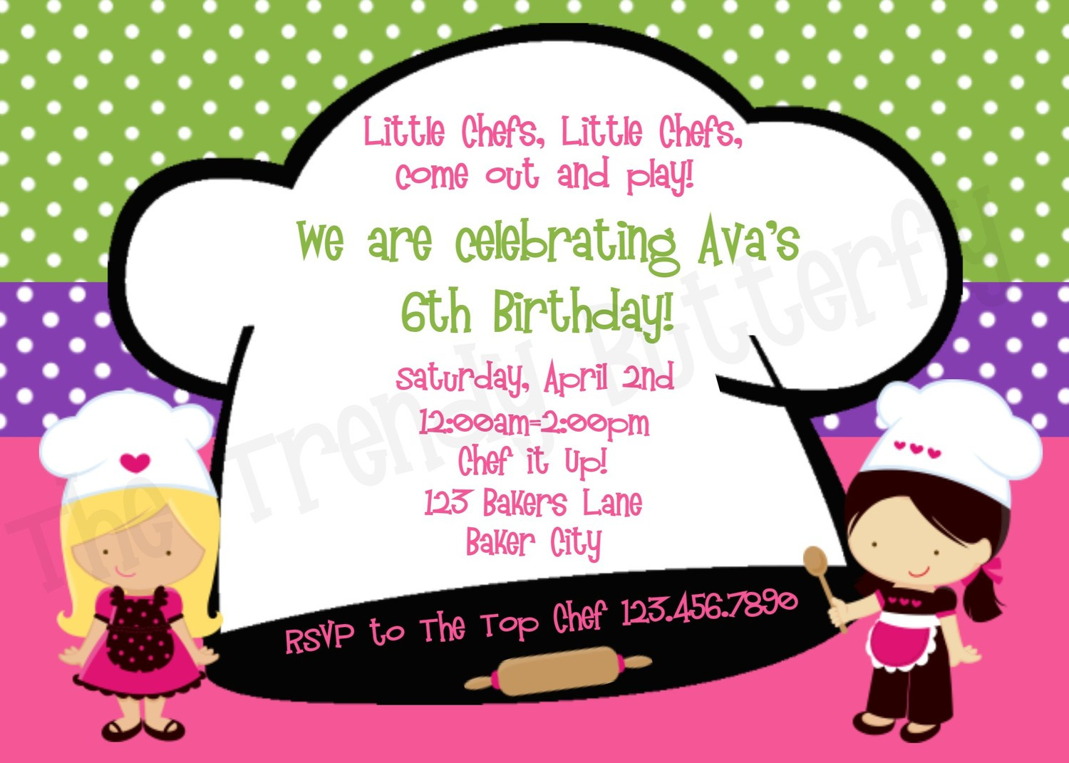 Best ideas about Cooking Birthday Party . Save or Pin Printable Birthday Invitations Cooking Birthday Party Now.