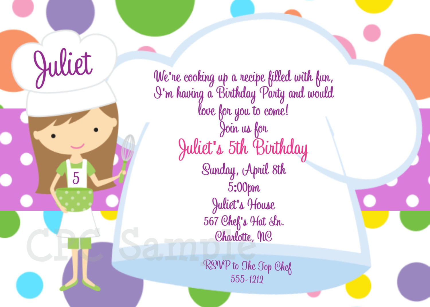 Best ideas about Cooking Birthday Party . Save or Pin Cooking Party Invitation Baking Birthday Invitations Now.