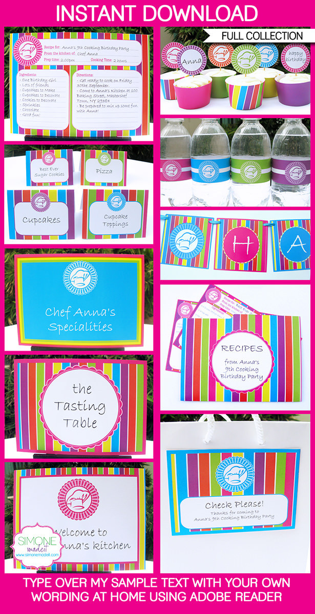 Best ideas about Cooking Birthday Party . Save or Pin Cooking Party Printables Invitations & Decorations Now.