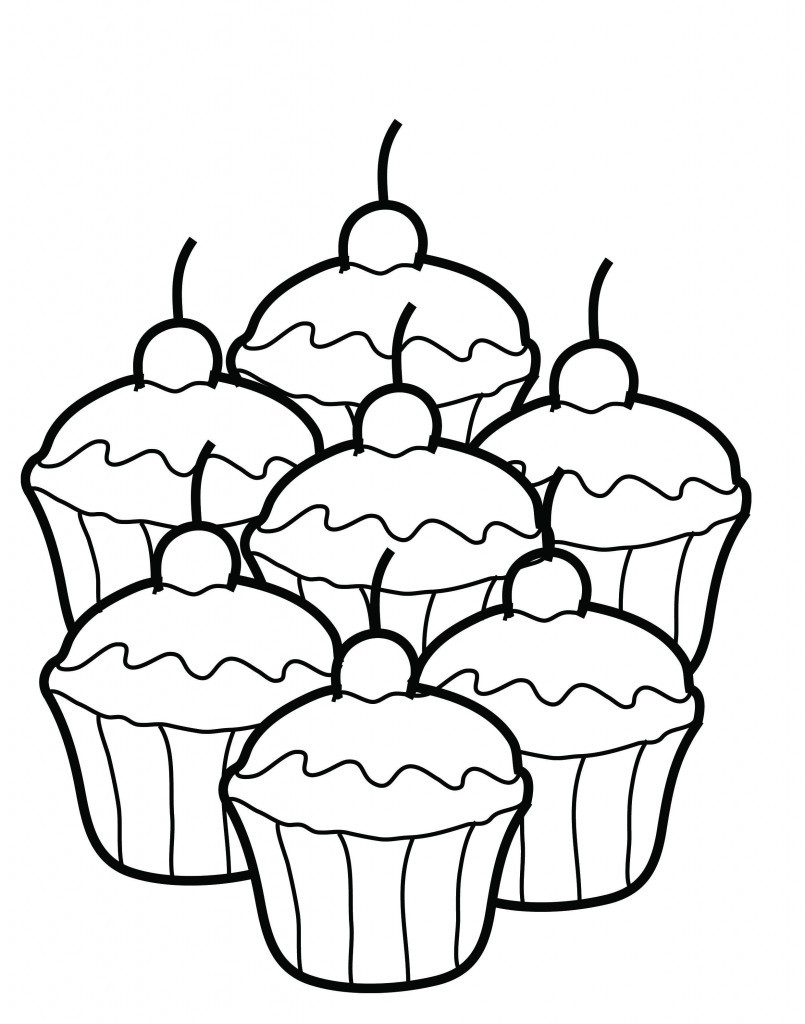 Best ideas about Cool Coloring Pages For Kids Free . Save or Pin Free Printable Cupcake Coloring Pages For Kids Now.