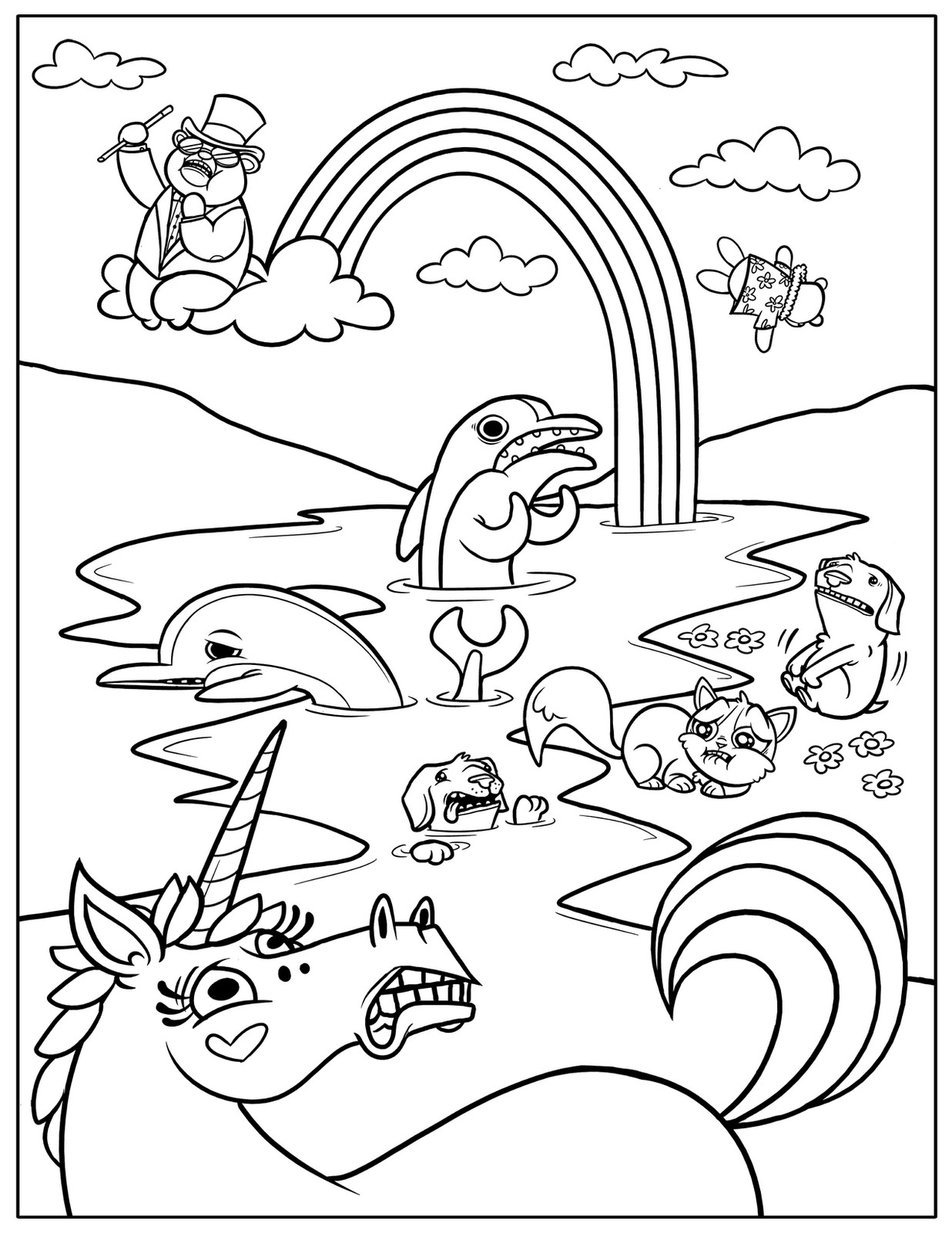 Best ideas about Cool Coloring Pages For Kids Free . Save or Pin Free Printable Rainbow Coloring Pages For Kids Now.