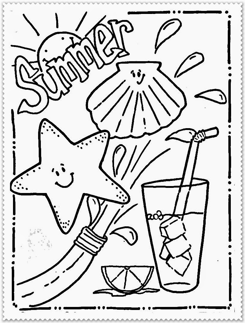 Best ideas about Cool Coloring Pages For Kids Free . Save or Pin Summer Coloring Pages Now.