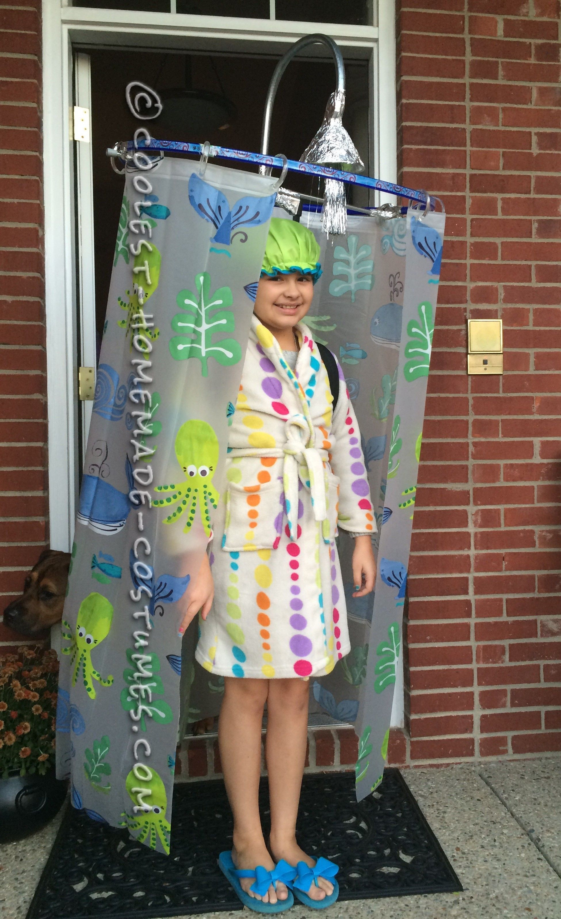 Best ideas about Cool DIY Costumes . Save or Pin Cool DIY Costume Idea Shower Curtain Costume Now.