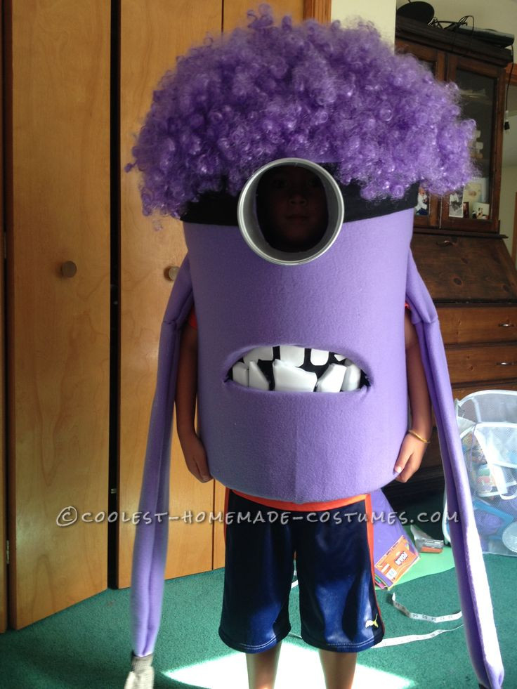 Best ideas about Cool DIY Costumes . Save or Pin Coolest Homemade Purple Evil Minion Costume from Now.