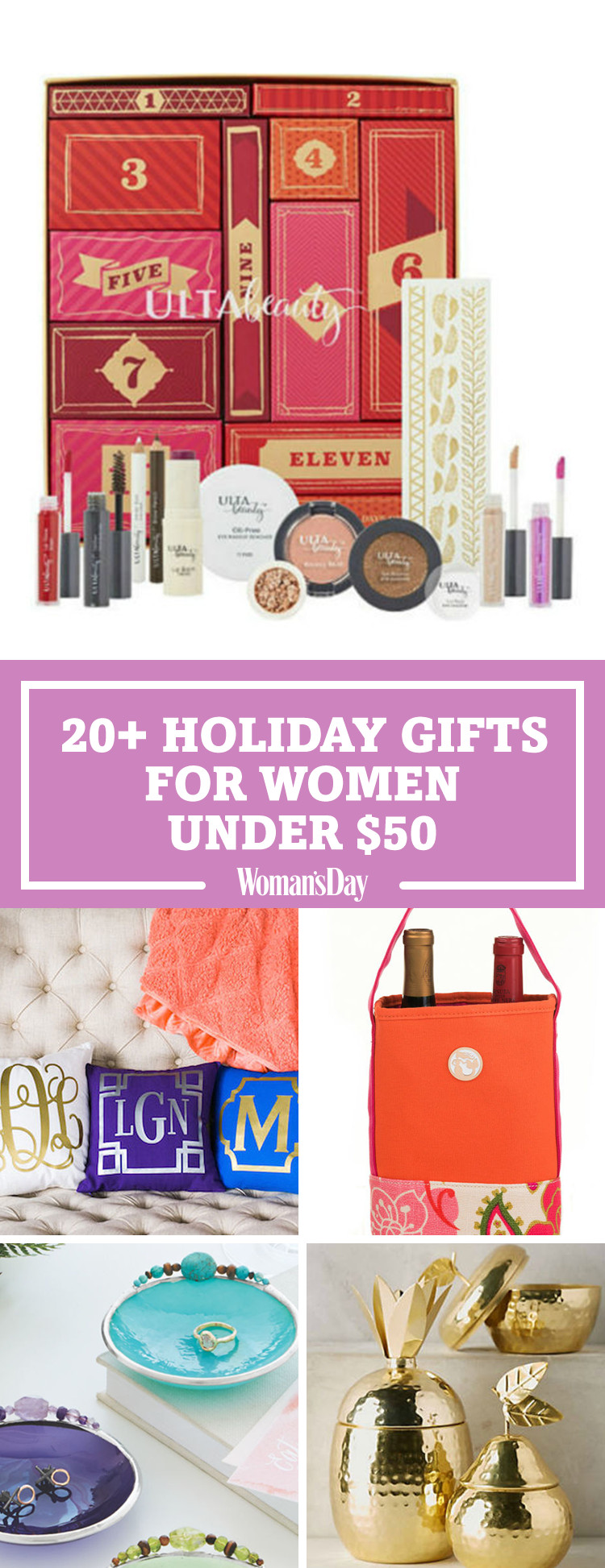 Best ideas about Cool Gift Ideas For Women . Save or Pin 36 Best Christmas Gifts for Women Under $50 Unique Now.