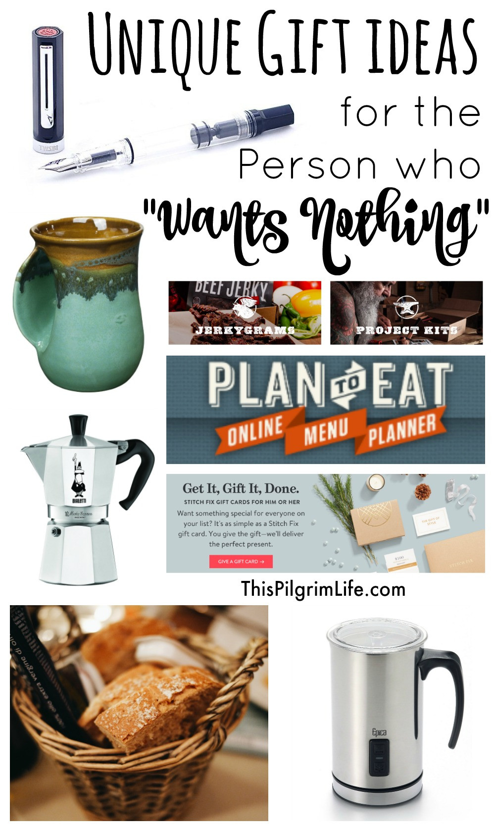 """Best ideas about Cool Gift Ideas . Save or Pin Unique Gift Ideas for The Person Who """"Wants Nothing Now."""