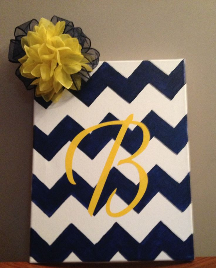 Best ideas about Cool Patterns To Paint . Save or Pin Chevron canvas painting such a good t for someone Now.