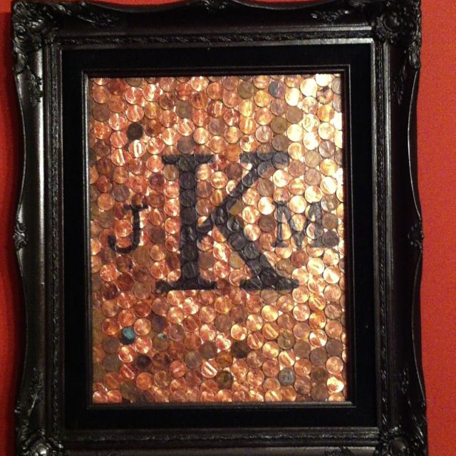 Best ideas about Copper Gift Ideas . Save or Pin 7th wedding anniversary Old frames and Pennies on Pinterest Now.