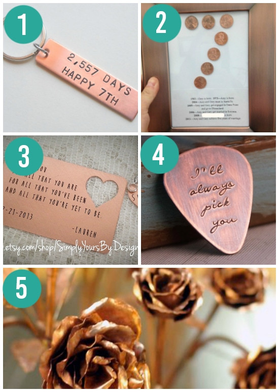 Best ideas about Copper Gift Ideas . Save or Pin Anniversary Gifts By Year for Spouses From The Dating Divas Now.