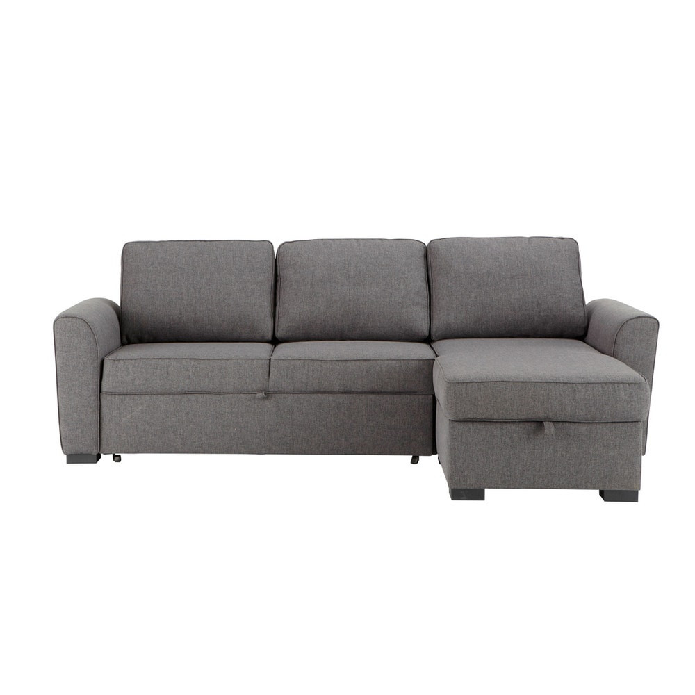 Best ideas about Corner Sofa Bed . Save or Pin 3 4 seater fabric corner sofa bed in grey Montréal Now.