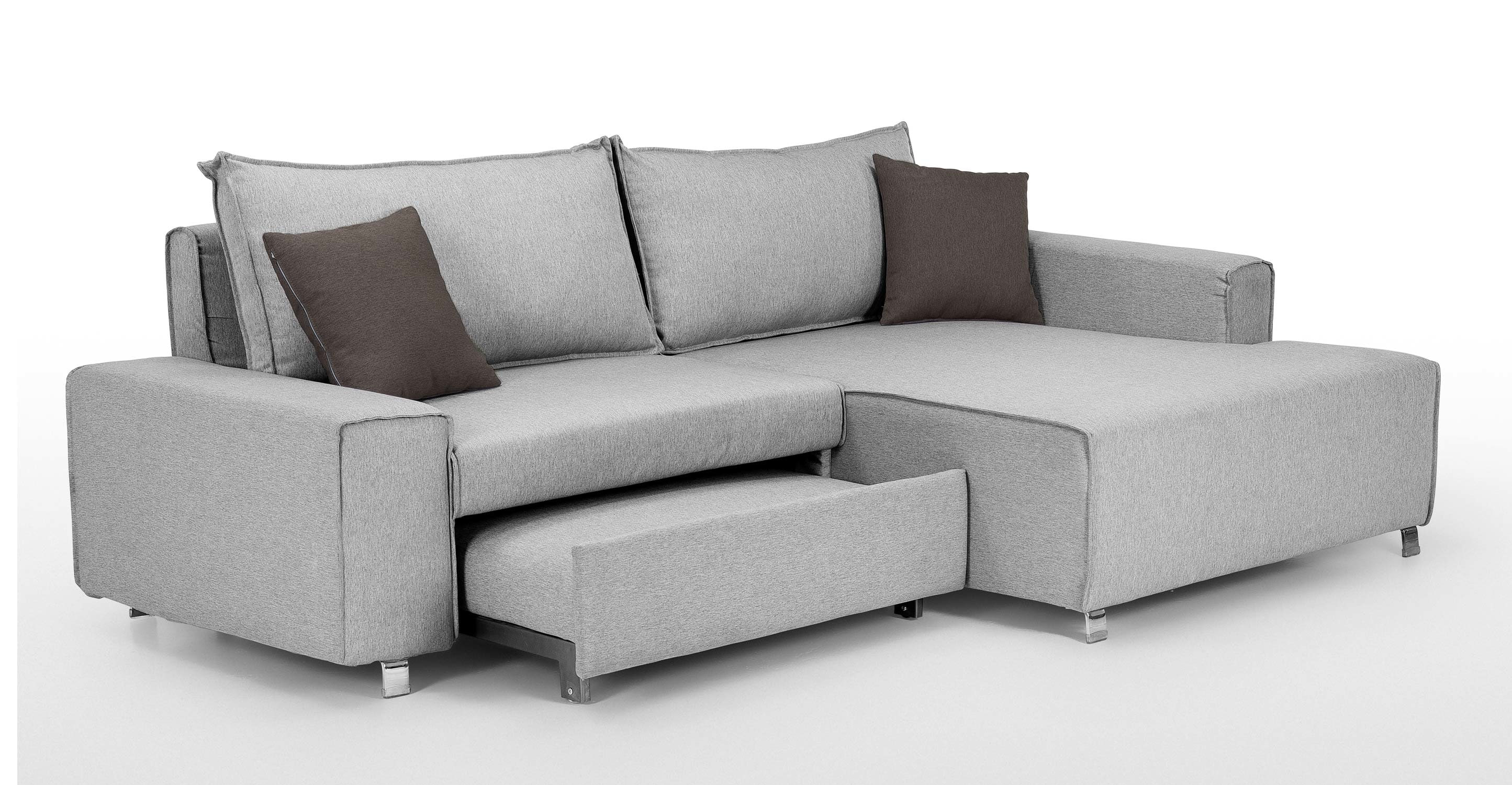 Best ideas about Corner Sofa Bed . Save or Pin Mayne Right Hand Facing Corner Sofa Bed Clear Grey Stone Now.