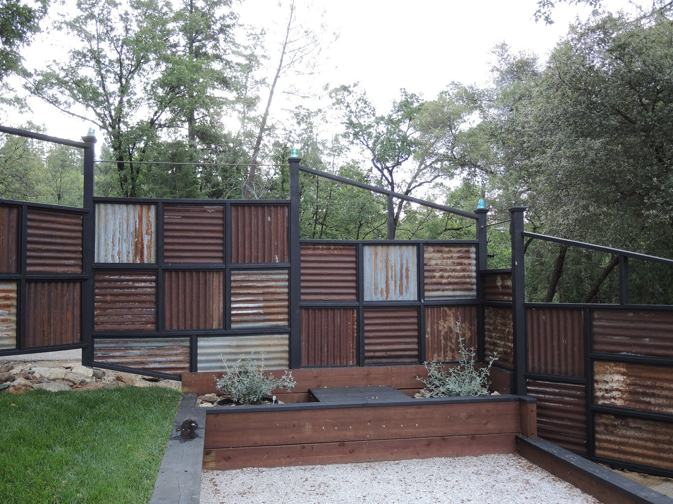 Best ideas about Corrugated Metal Fence DIY . Save or Pin Corrugated Metal Privacy Fence Now.