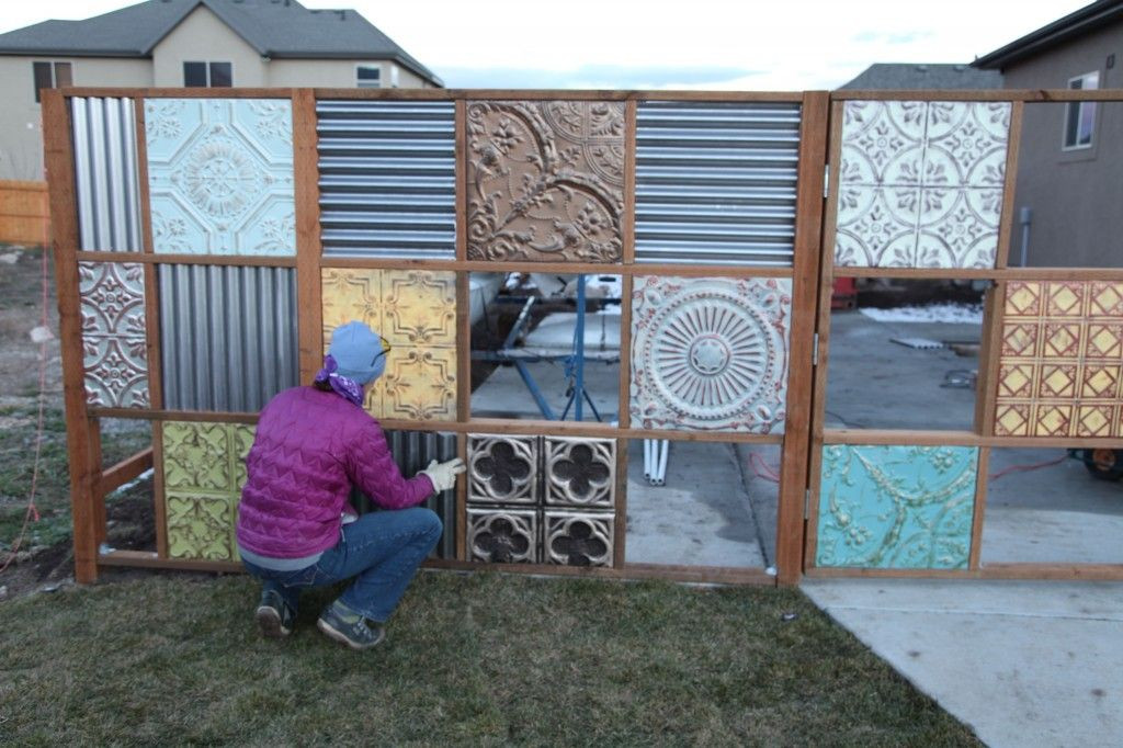 Best ideas about Corrugated Metal Fence DIY . Save or Pin Pin by Jenni McCarty on Our New Yard Now.