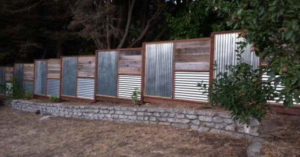 Best ideas about Corrugated Metal Fence DIY . Save or Pin fence designs with tin roofing Now.