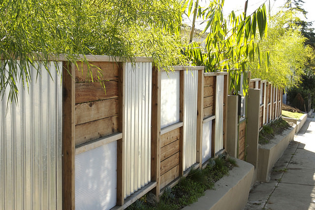 Best ideas about Corrugated Metal Fence DIY . Save or Pin DIY Fences Now.
