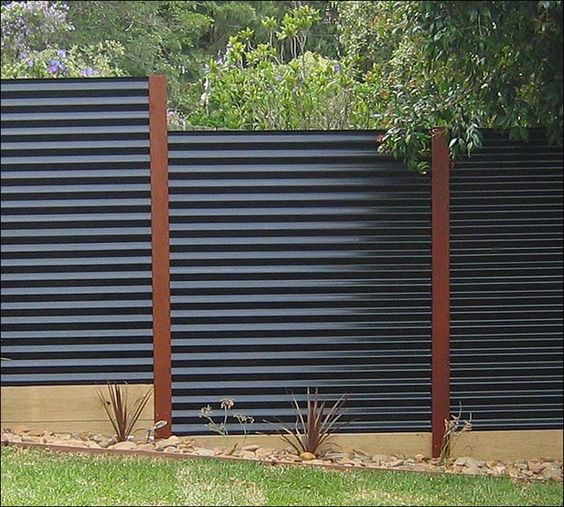 Best ideas about Corrugated Metal Fence DIY . Save or Pin DIY Corrugated Metal Fences Now.