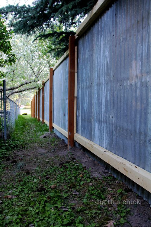 Best ideas about Corrugated Metal Fence DIY . Save or Pin back for solid metal side outdoor space Now.