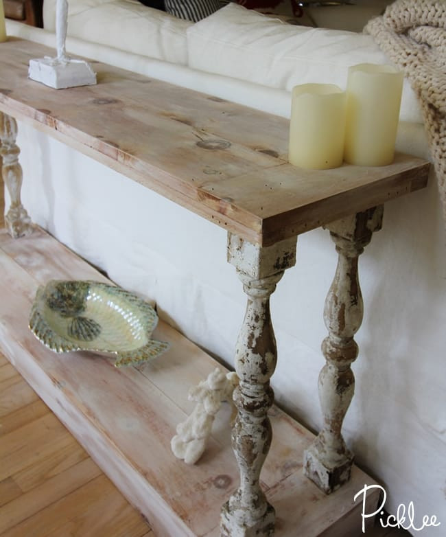 Best ideas about Couch Table DIY . Save or Pin DIY Reclaimed Sofa Table [tutorial] Picklee Now.