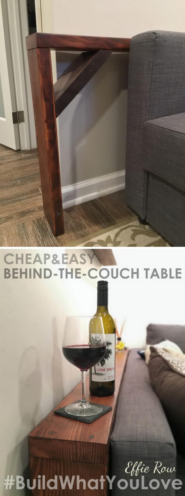 Best ideas about Couch Table DIY . Save or Pin 20 Easy DIY Console Table and Sofa Table Ideas Hative Now.
