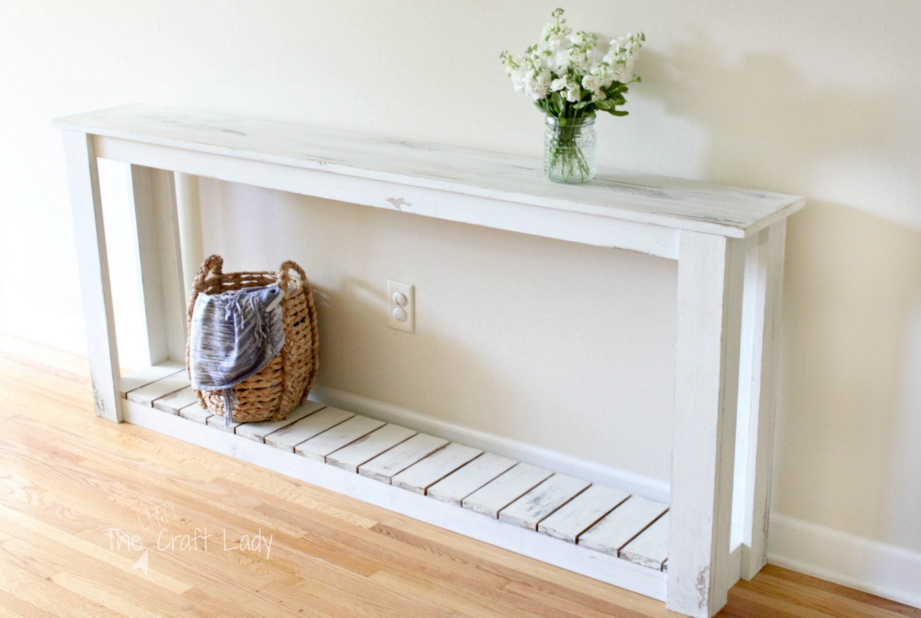 Best ideas about Couch Table DIY . Save or Pin DIY Sofa Table Farmhouse Style The Crazy Craft Lady Now.