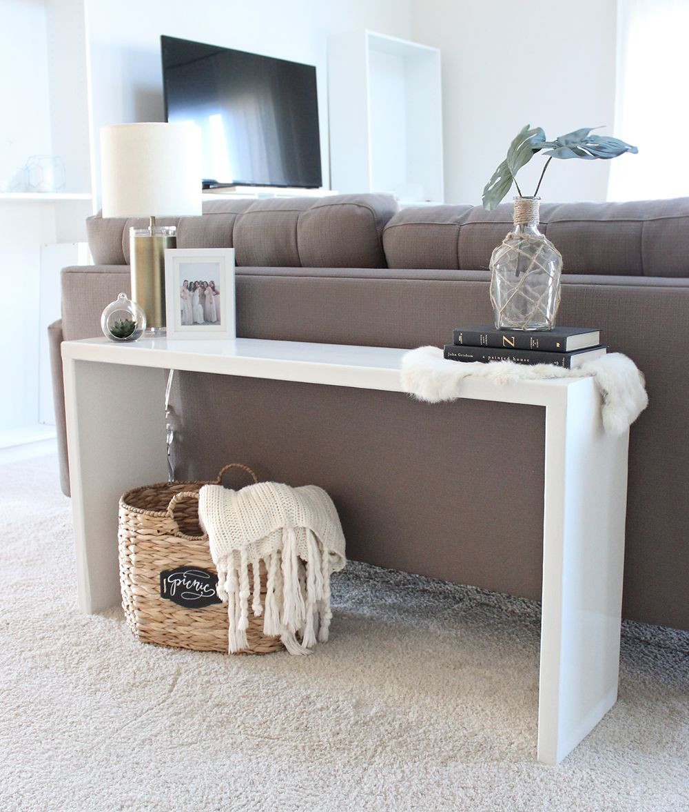 Best ideas about Couch Table DIY . Save or Pin DIY Wood Console Table diy Now.