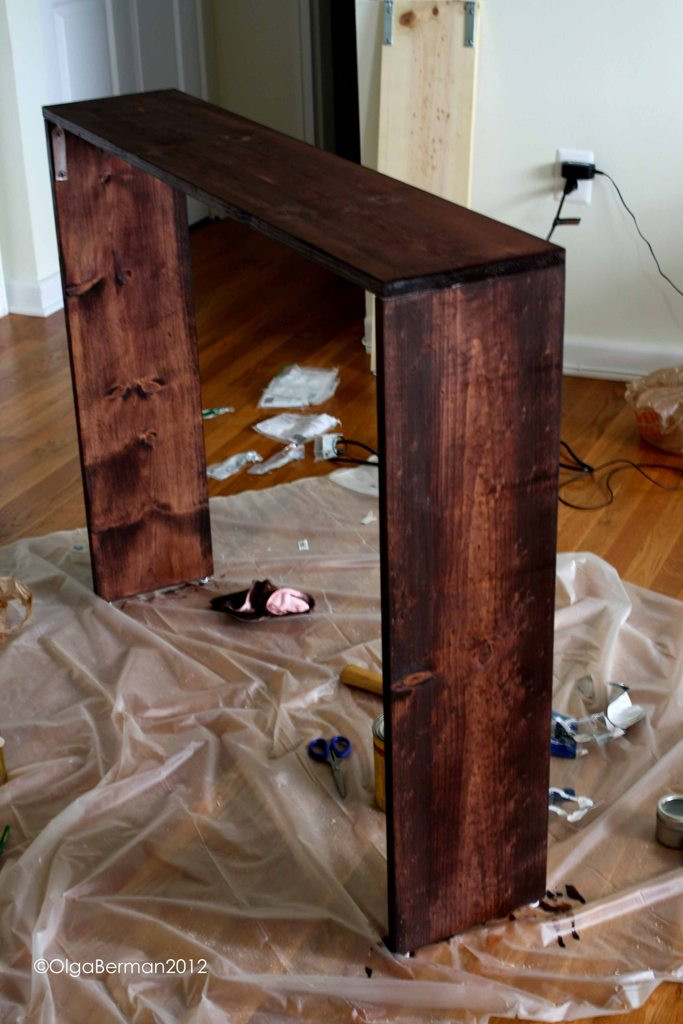 Best ideas about Couch Table DIY . Save or Pin Mango & Tomato DIY Sofa Table Project Now.