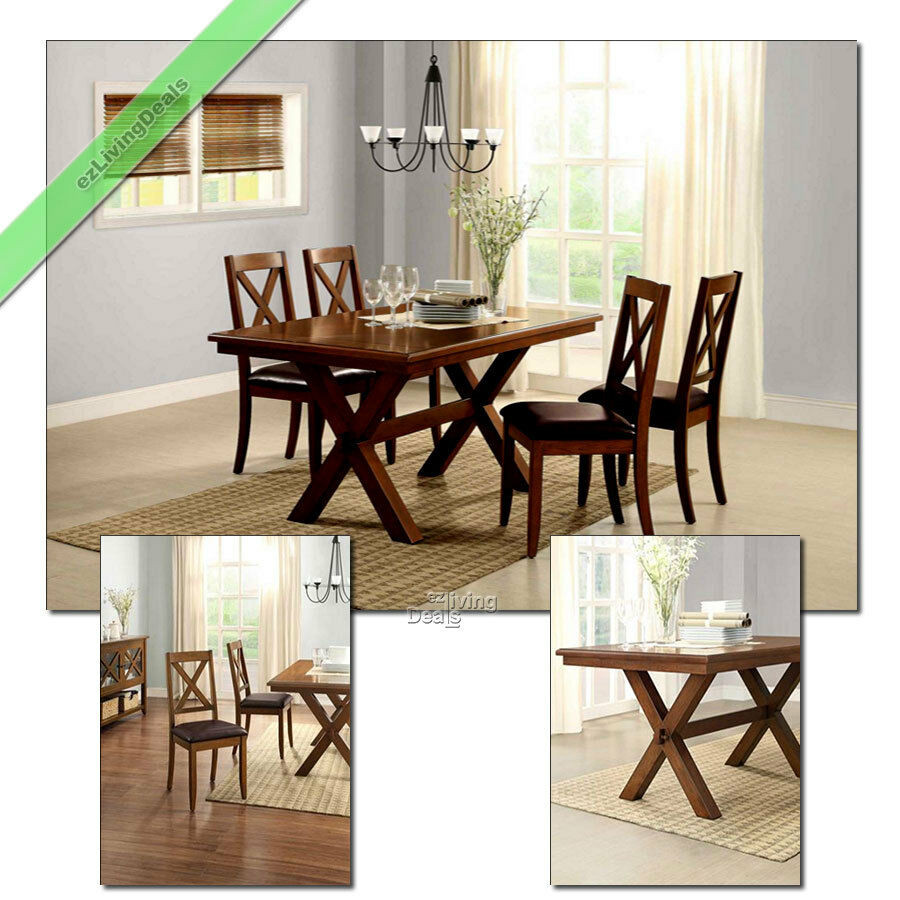 Best ideas about Country Dining Table . Save or Pin 5 Pc Dining Room Set Table Chairs Maddox Crossing Wood Now.