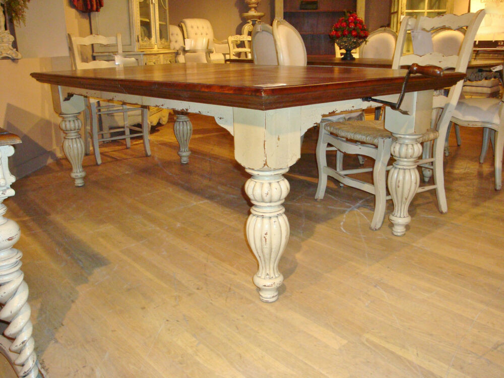 Best ideas about Country Dining Table . Save or Pin Distressed White Farmhouse Dining Table French Country 108 Now.