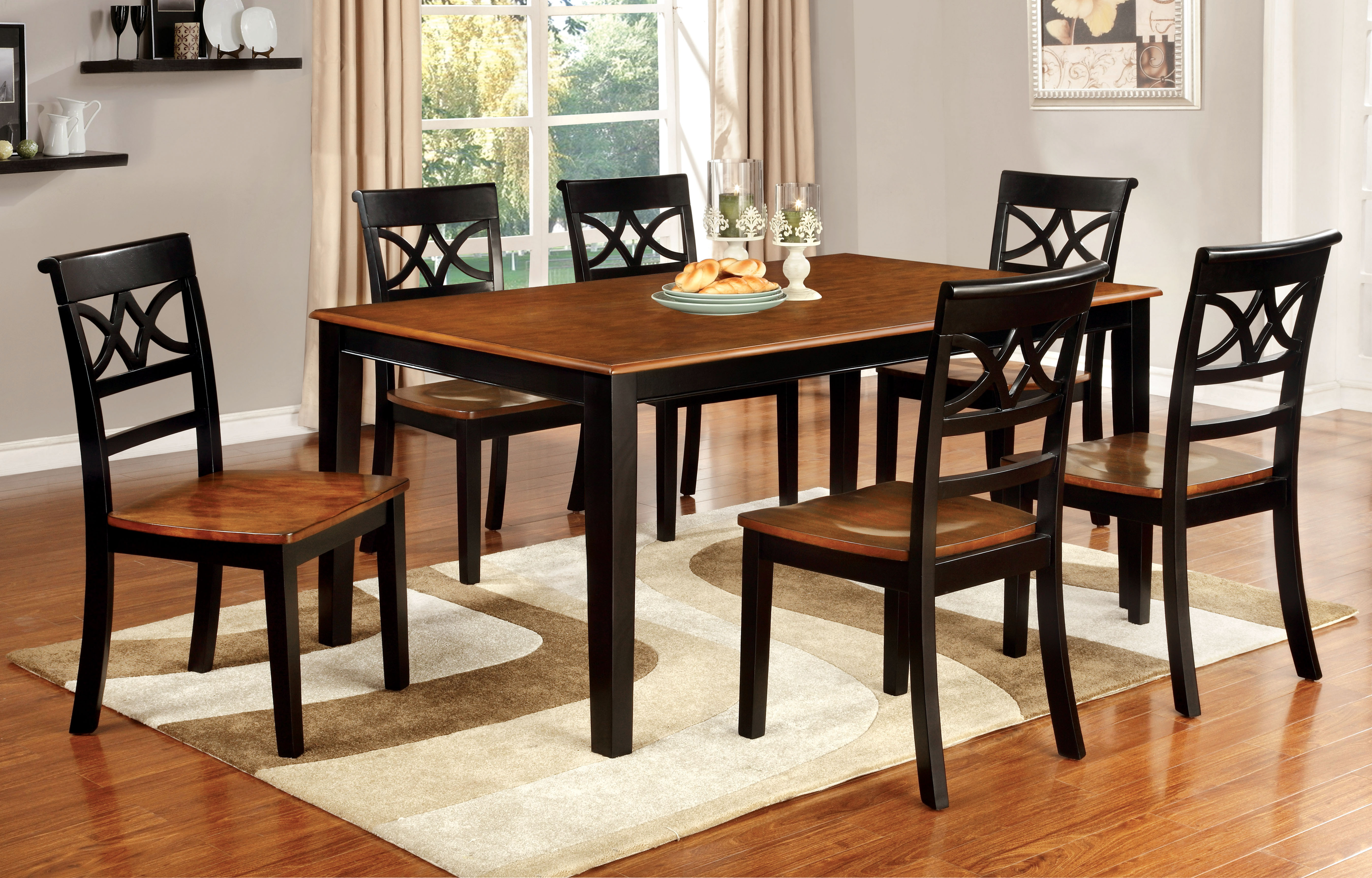Best ideas about Country Dining Table . Save or Pin Furniture of America Two Tone Adelle Country Style Dining Now.