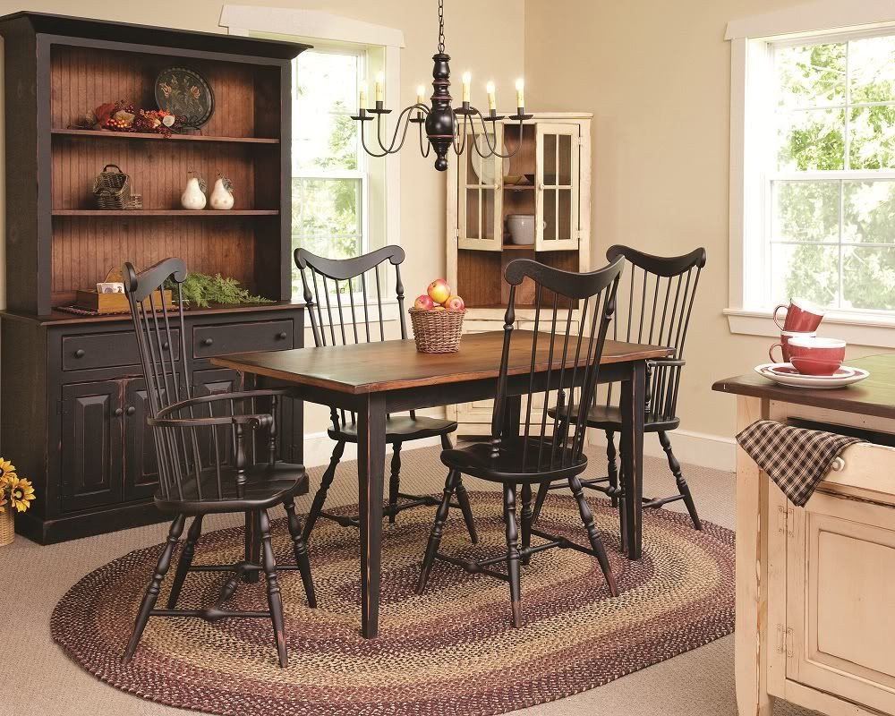 Best ideas about Country Dining Table . Save or Pin Primitive Dining Table Chairs Set Farmhouse Furniture Now.