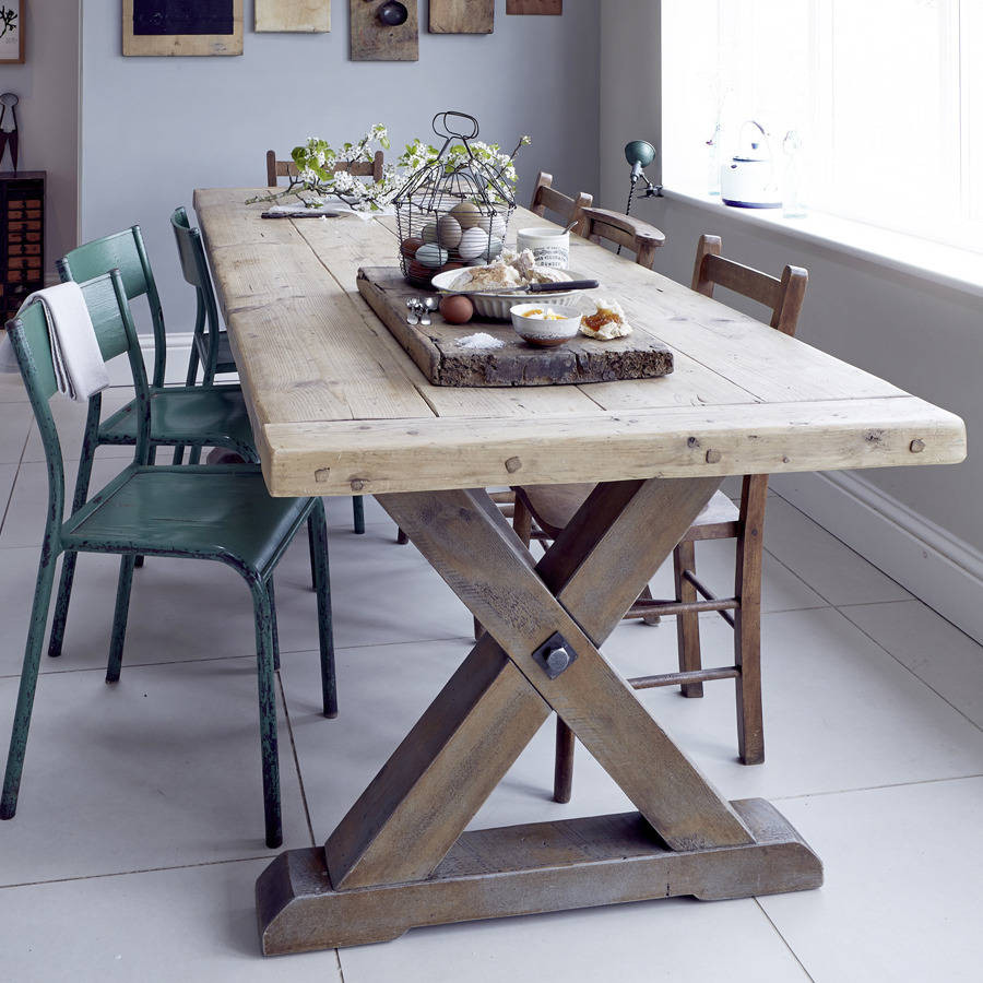 Best ideas about Country Dining Table . Save or Pin reclaimed timber country dining table by home barn Now.