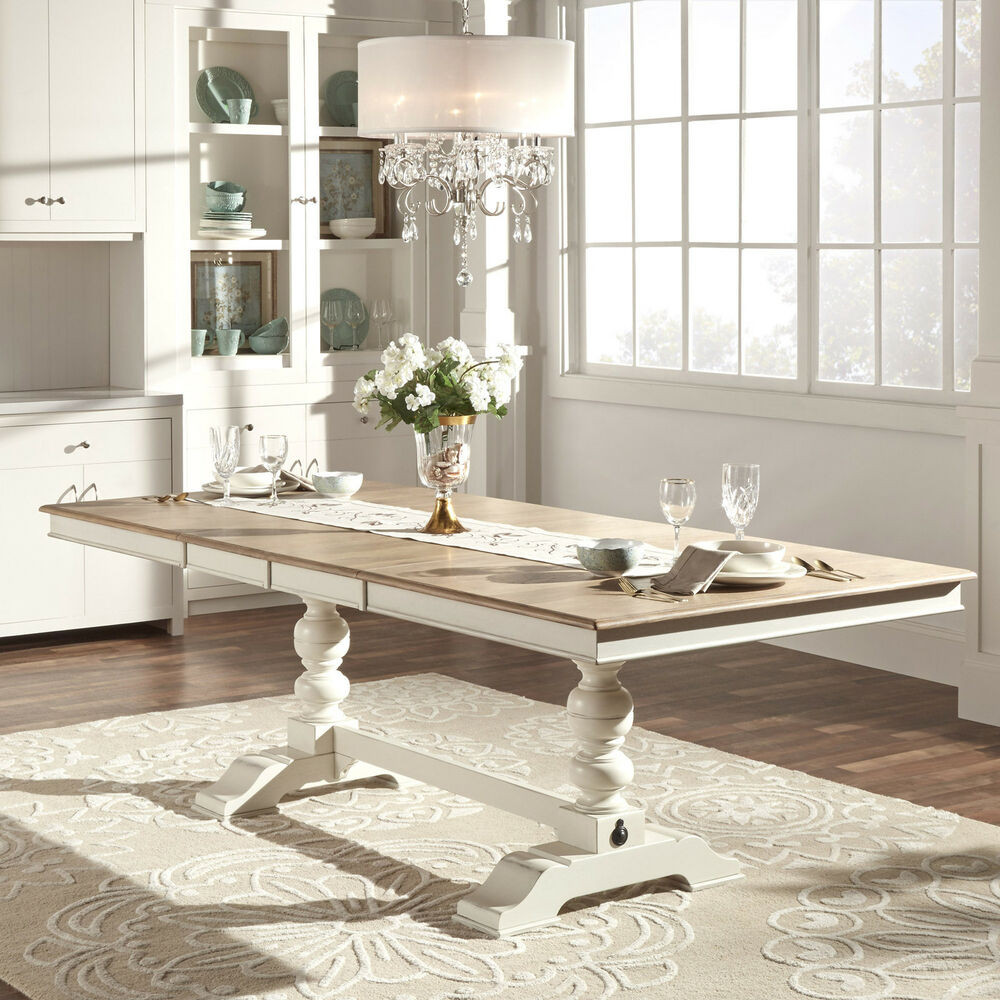 Best ideas about Country Dining Table . Save or Pin TRIBECCA HOME McKay Country Antique White Pedestal Now.