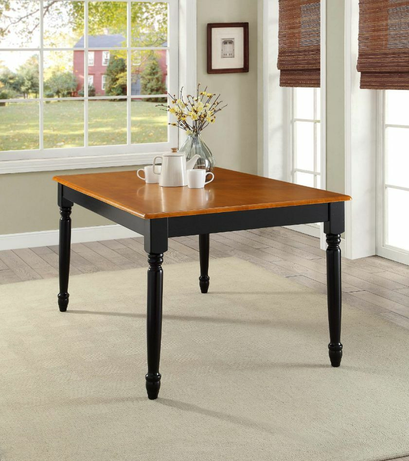 Best ideas about Country Dining Table . Save or Pin Farmhouse Dining Table Kitchen Room Country Durable Wood Now.