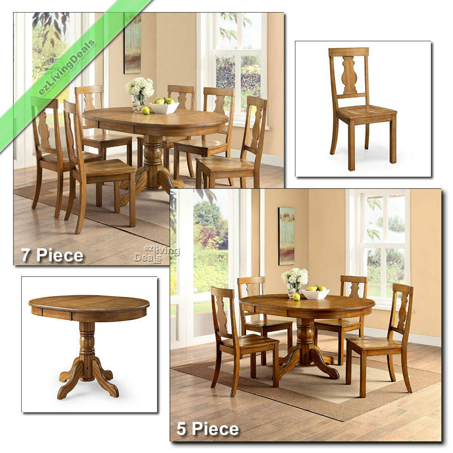 Best ideas about Country Dining Table . Save or Pin Country Dining Room Sets Farmhouse Table Chairs Wood 5 Pc Now.