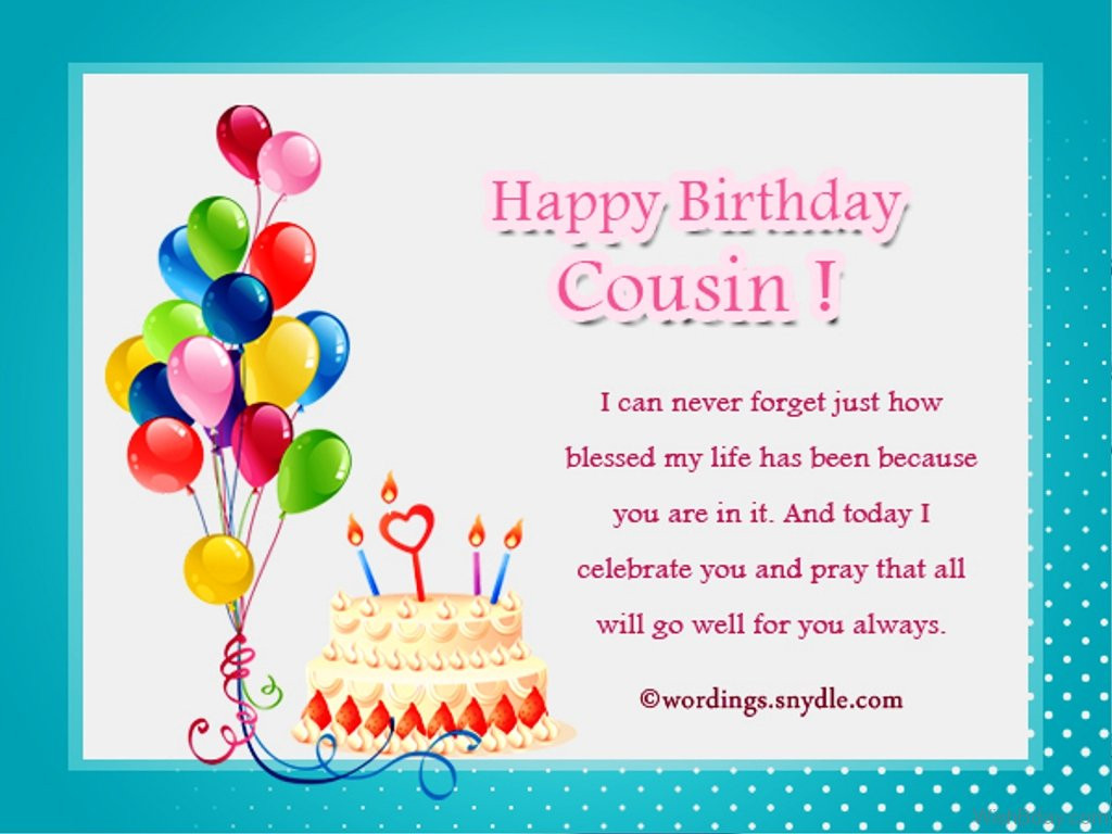 Best ideas about Cousins Birthday Wish . Save or Pin 34 Birthday Wishes For Cousin Now.