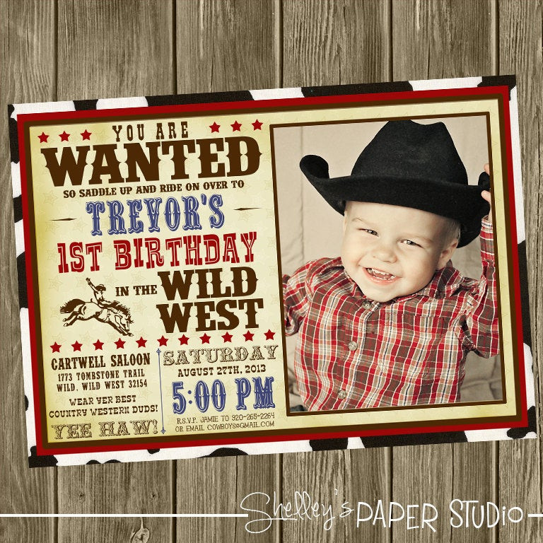 Best ideas about Cowboy Birthday Invitations . Save or Pin Cowboy Birthday Party Invitation Option Now.