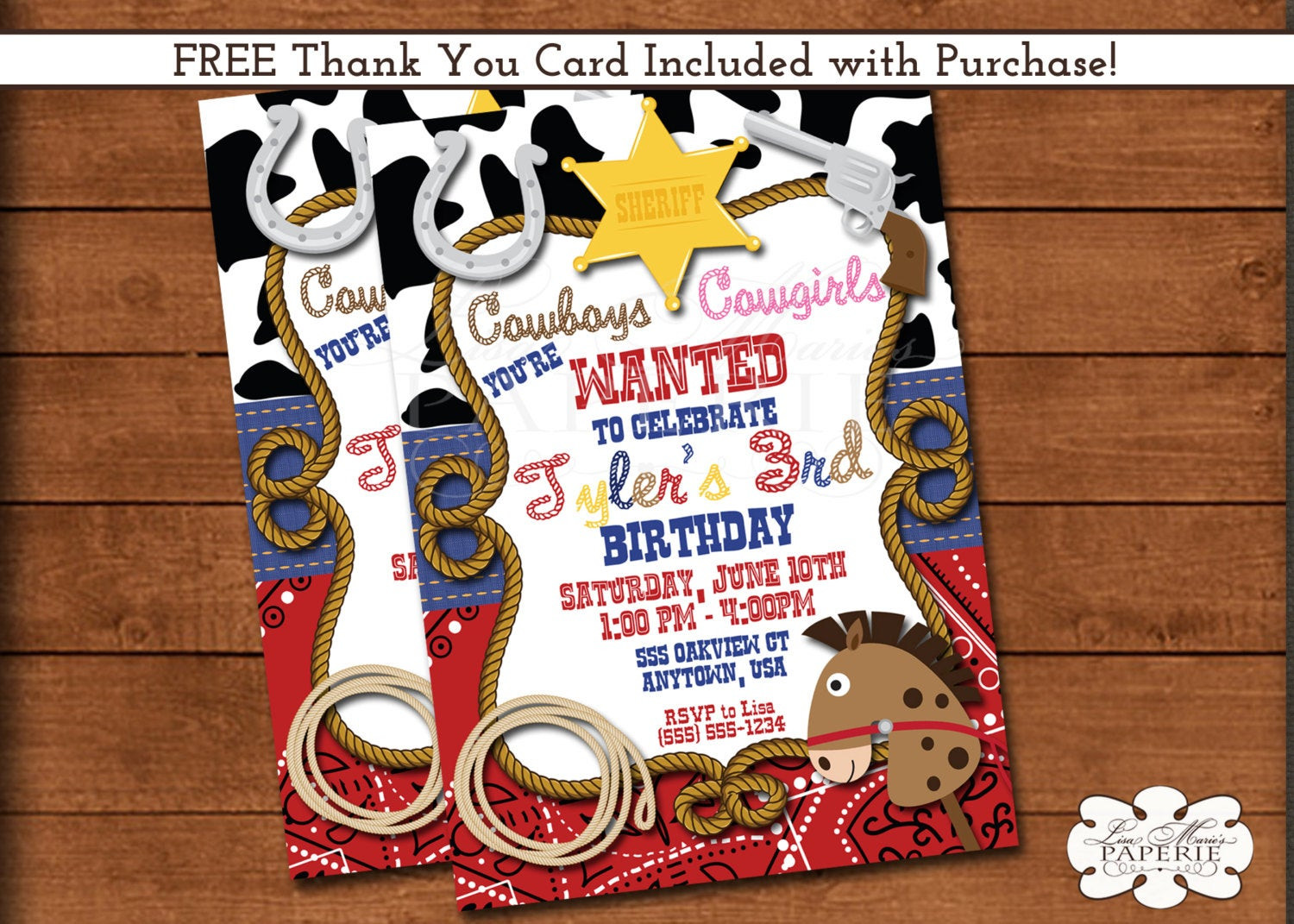 Best ideas about Cowboy Birthday Invitations . Save or Pin cowboy birthday invitation sheriff birthday party invitation Now.
