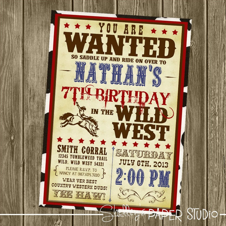 Best ideas about Cowboy Birthday Invitations . Save or Pin Cowboy Birthday Invitation Now.