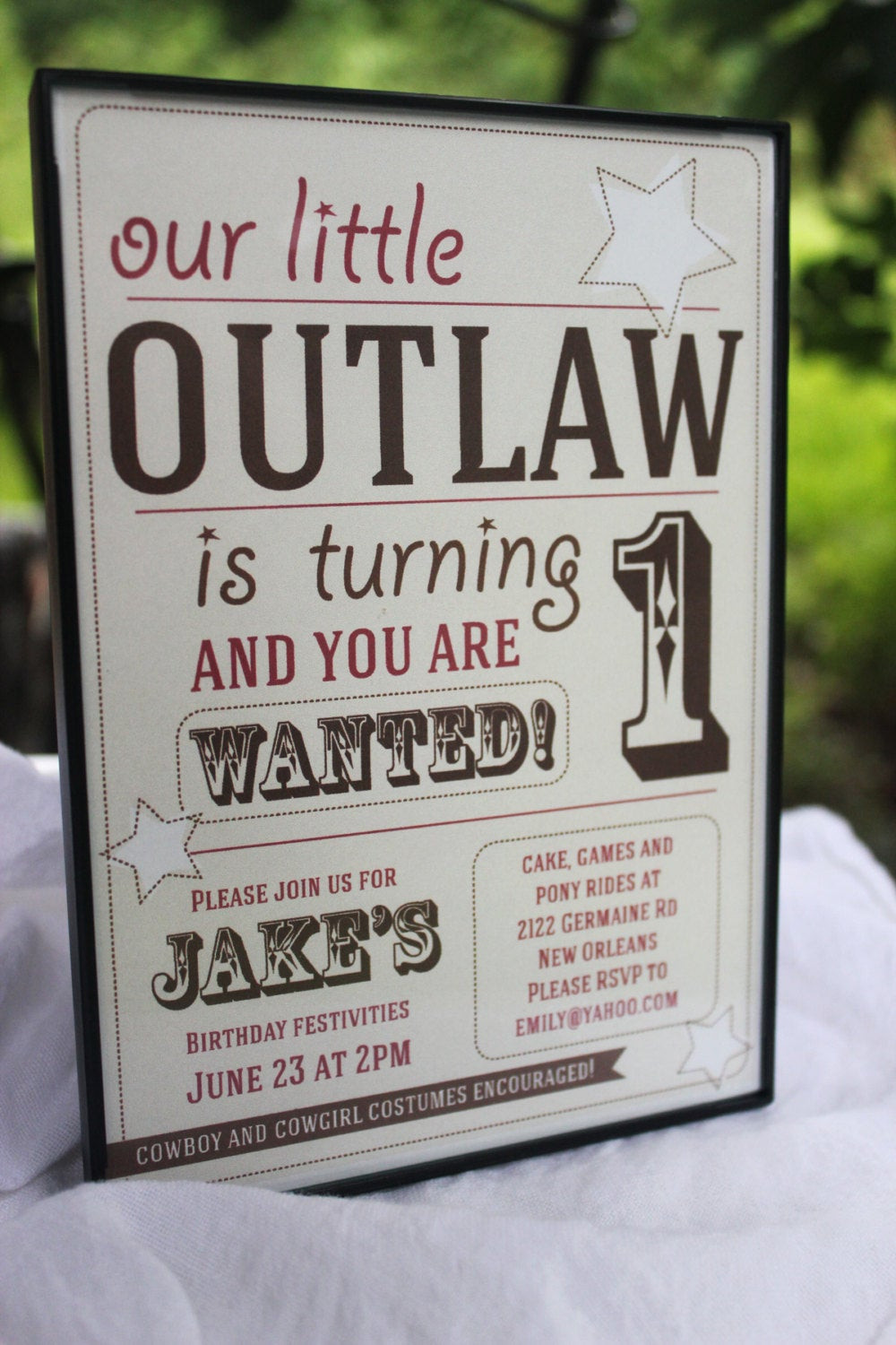 Best ideas about Cowboy Birthday Invitations . Save or Pin Boy Cowboy Birthday Party Invitation Custom Printable Now.