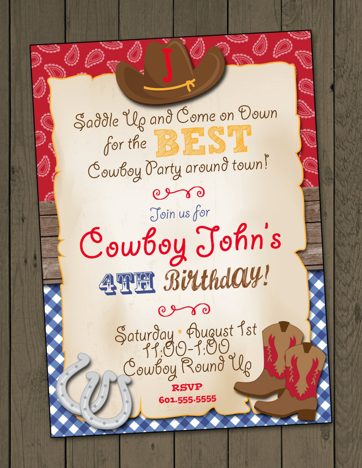 Best ideas about Cowboy Birthday Invitations . Save or Pin Cowboy Birthday Party Invitation Cowboy Invitation Digital Now.