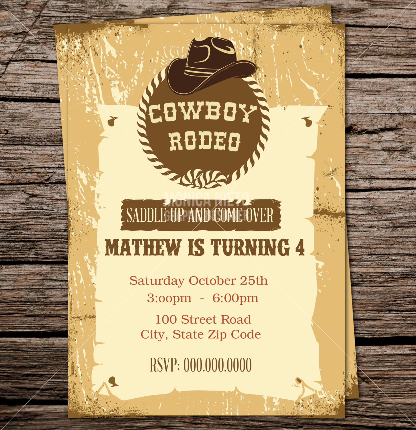 Best ideas about Cowboy Birthday Invitations . Save or Pin Cowboy Birthday Party Invitation Western Rodeo Invitation Now.