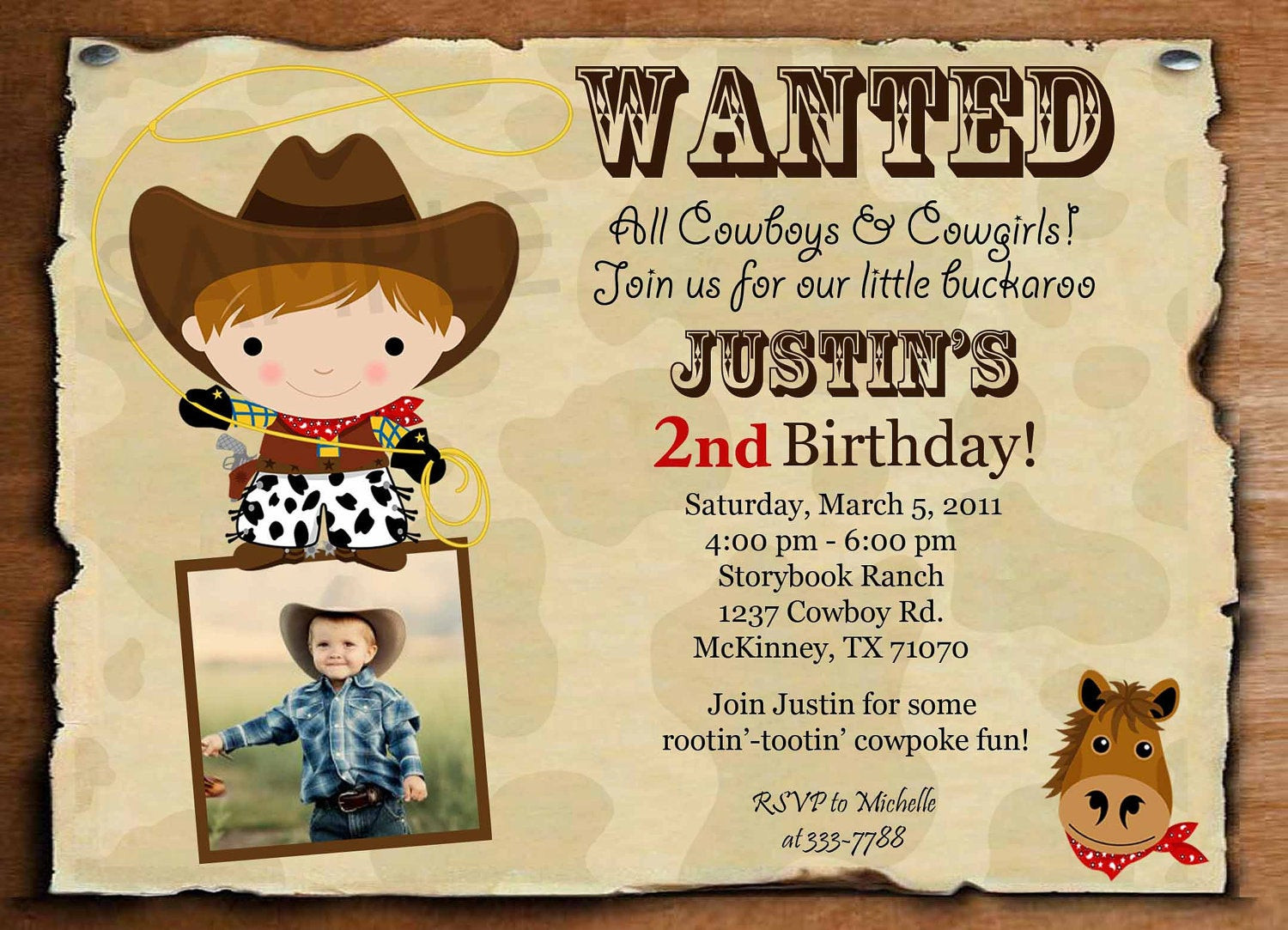 Best ideas about Cowboy Birthday Invitations . Save or Pin Birthday Invitation Cowboy or Cowgirl Wanted by theprintfairy Now.