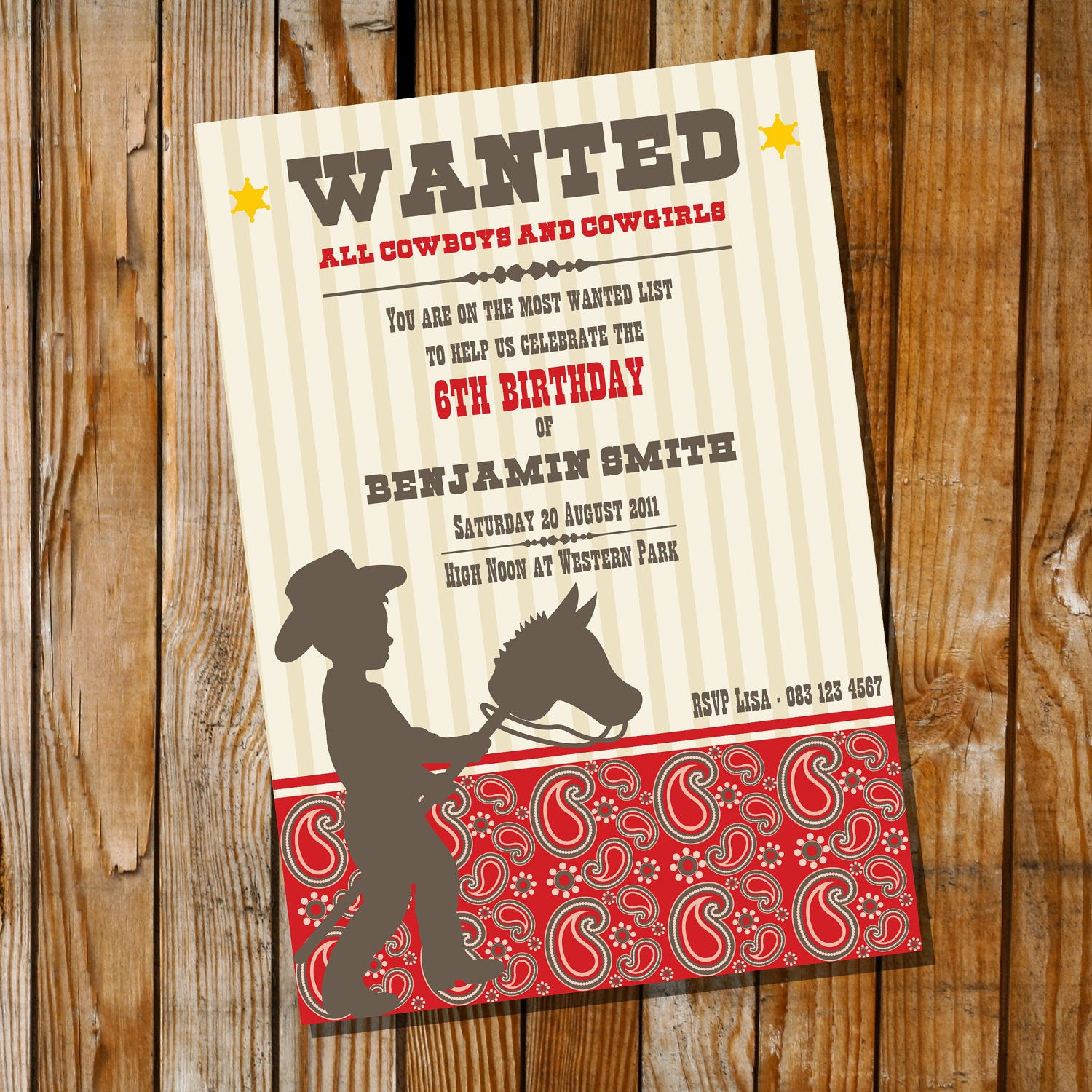 Best ideas about Cowboy Birthday Invitations . Save or Pin Little Cowboy Birthday Party Invitation ly Instantly Now.